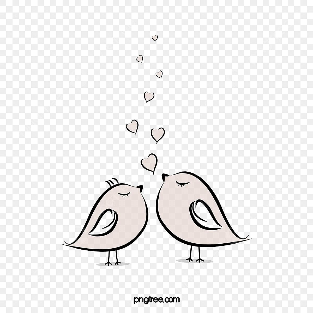 無料ダウンロードのためのキスの鳥は 漫画 可愛い イラストpng画像素材