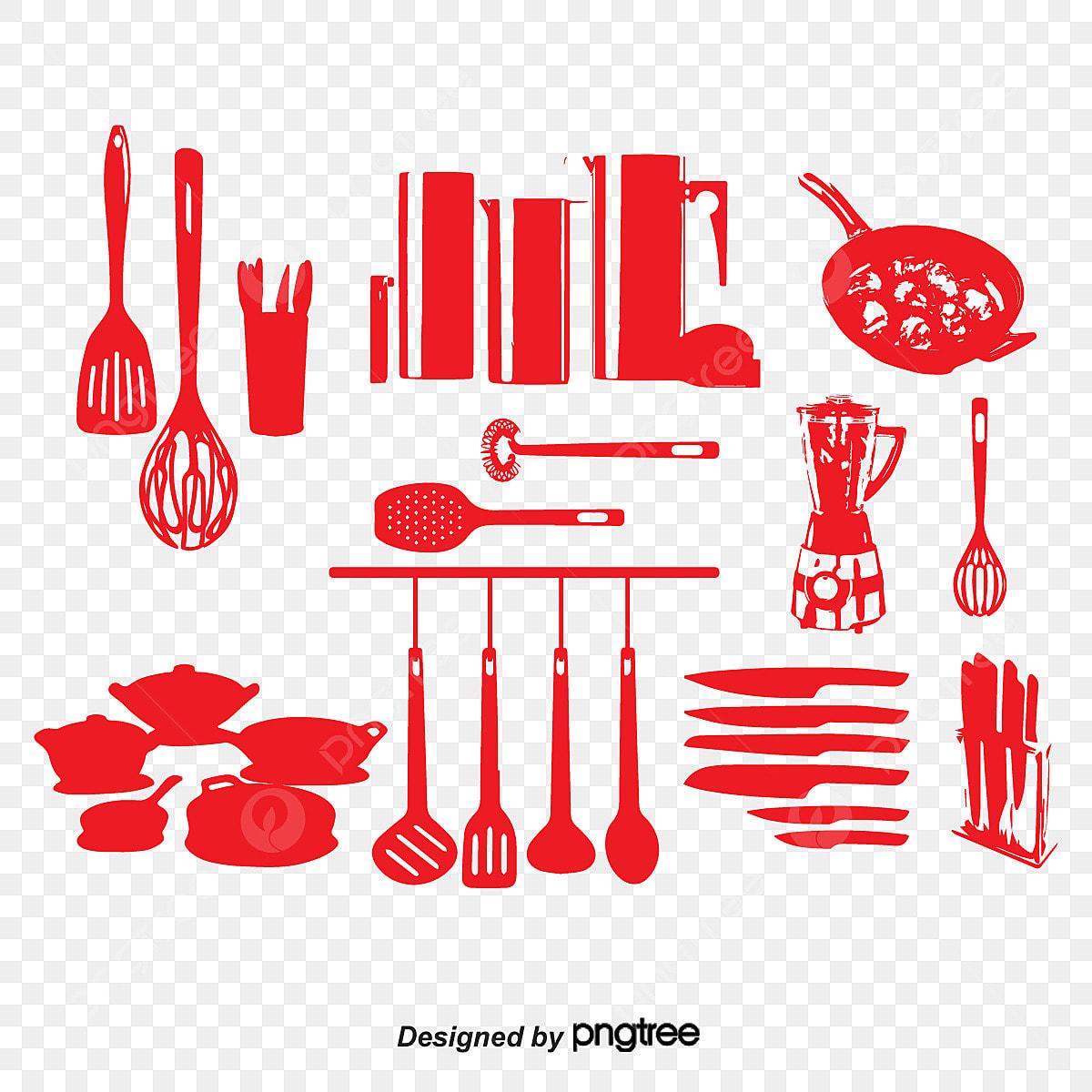 Utensilios De Cocina Silueta Vector Vector Utensilios De Cocina