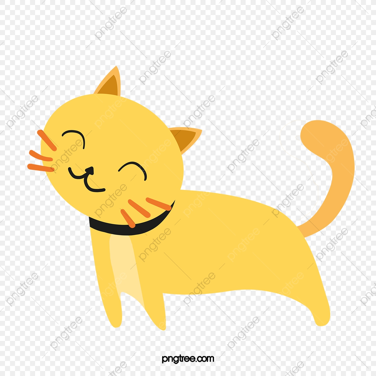 Lazy Cat Cat Clipart Yellow Cartoon Png Transparent Clipart Image And Psd File For Free Download