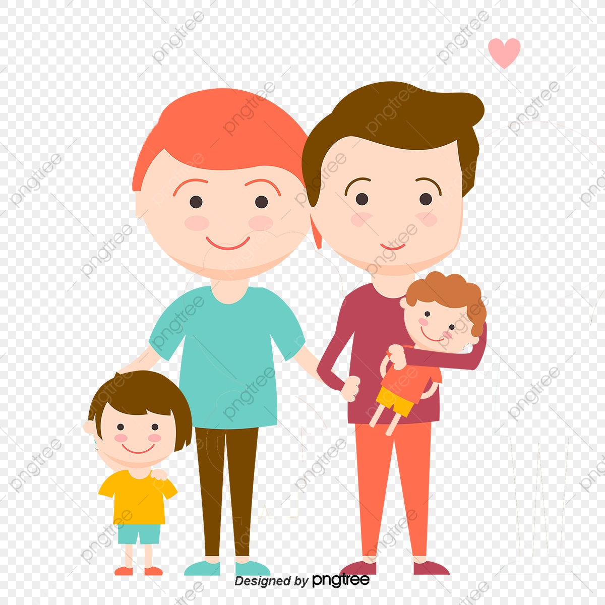 Loving Family, Family Vector, Vector Character, Illustration PNG and