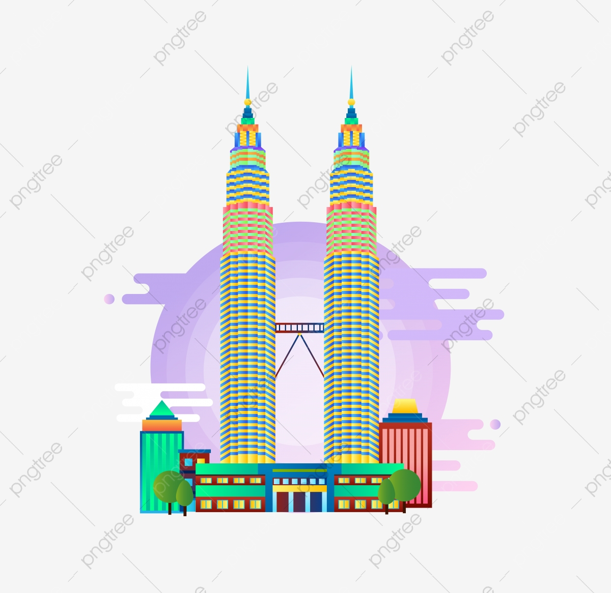 Malaysia Petronas Twin Towers Buildings Image, Environmental