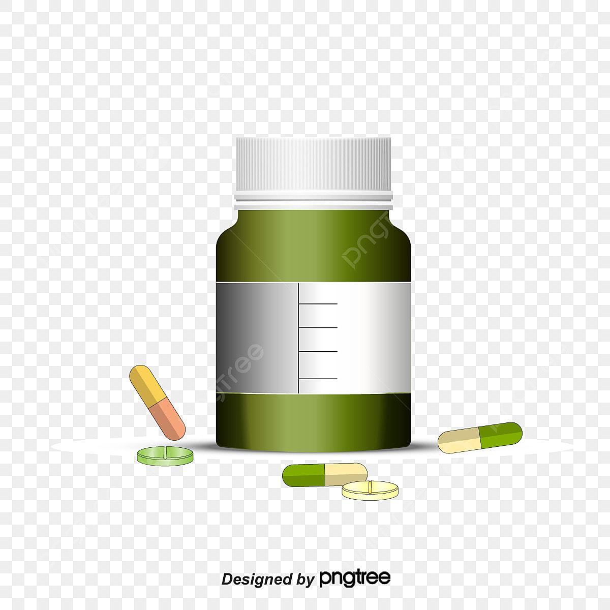 itu botol obat pil meds kartun png dan vektor untuk muat