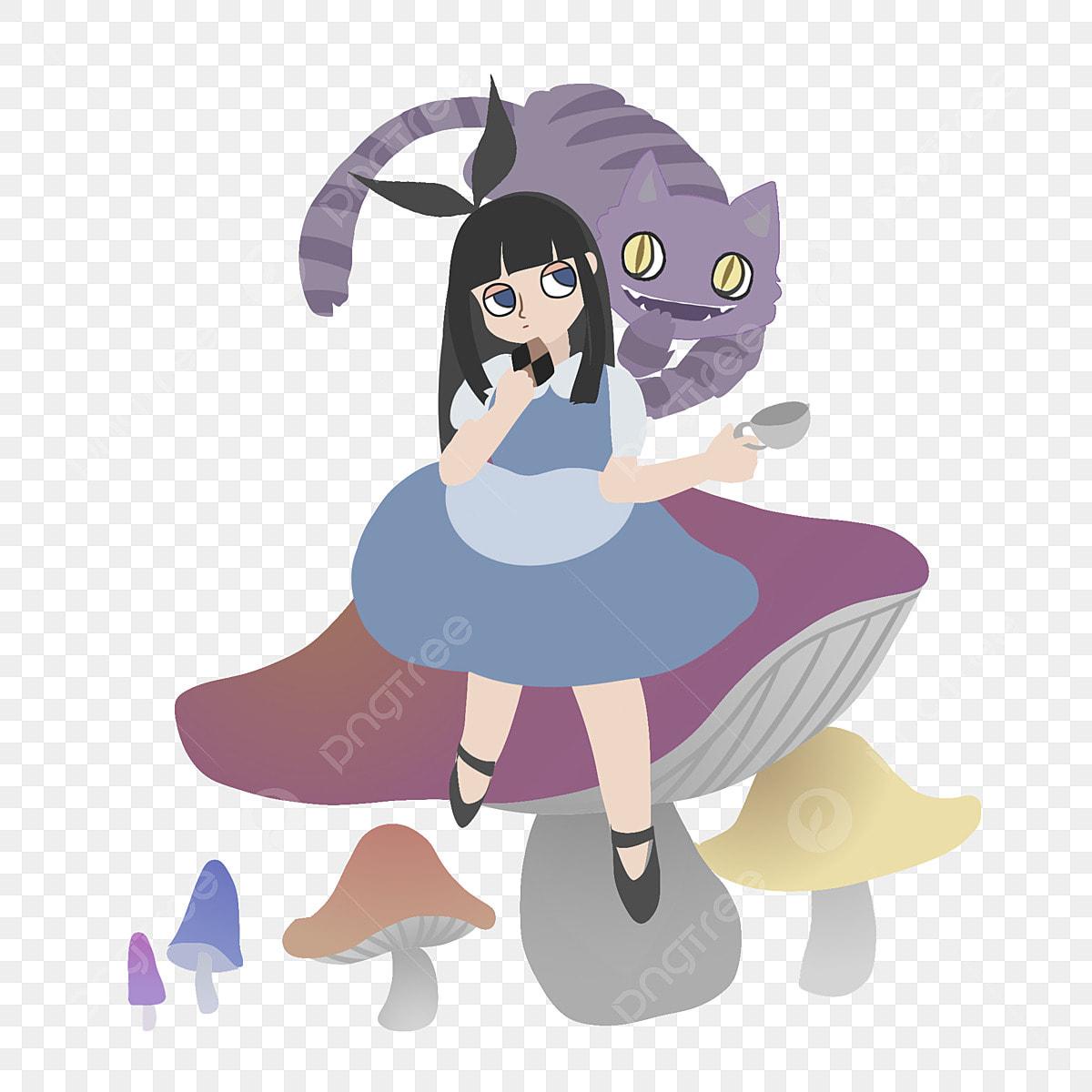 Meng Version Of Alice In Wonderland Comic Cartoon Handbook Map