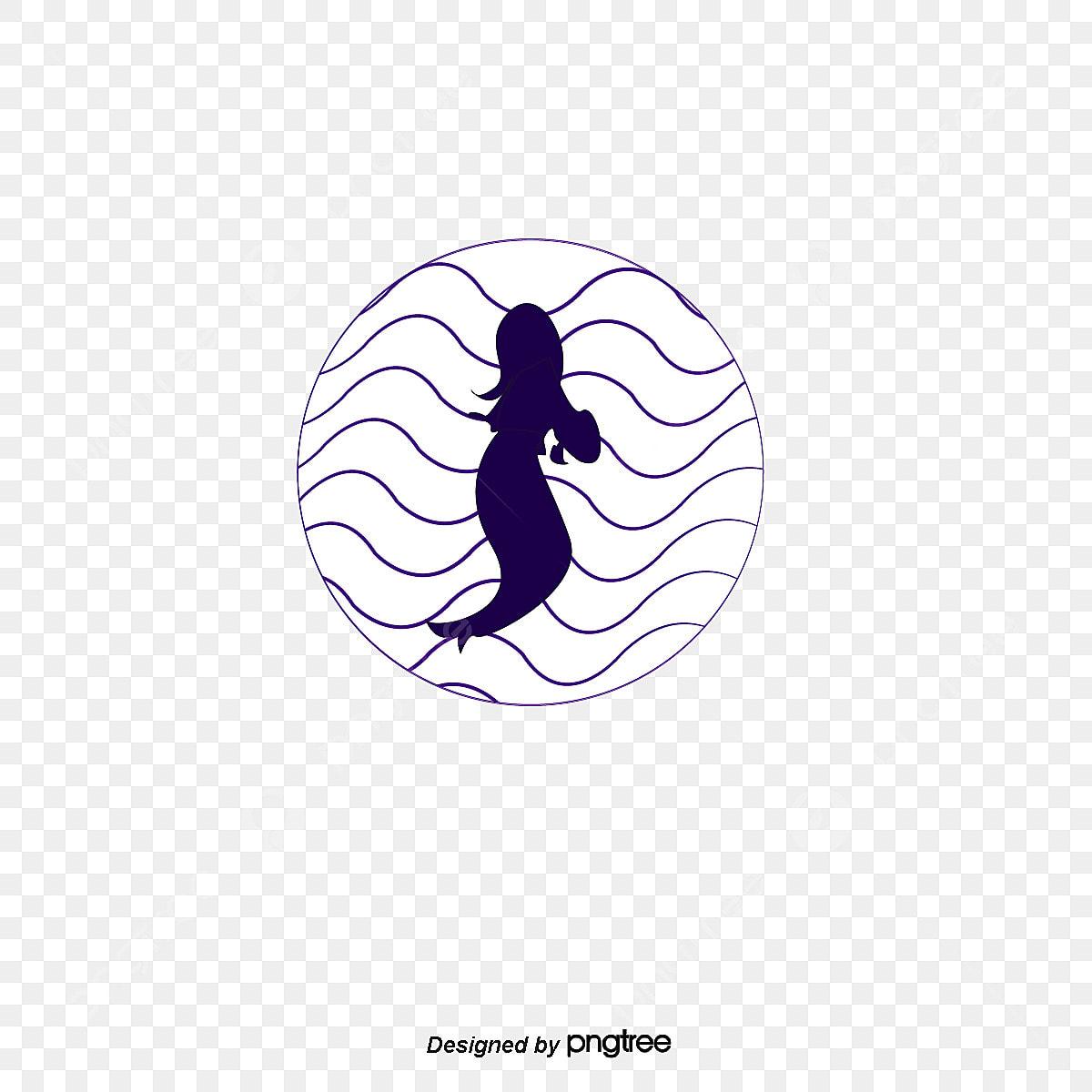 ベクトルマーメイドイラストイラスト 人魚のシルエット 人魚 ベクトル