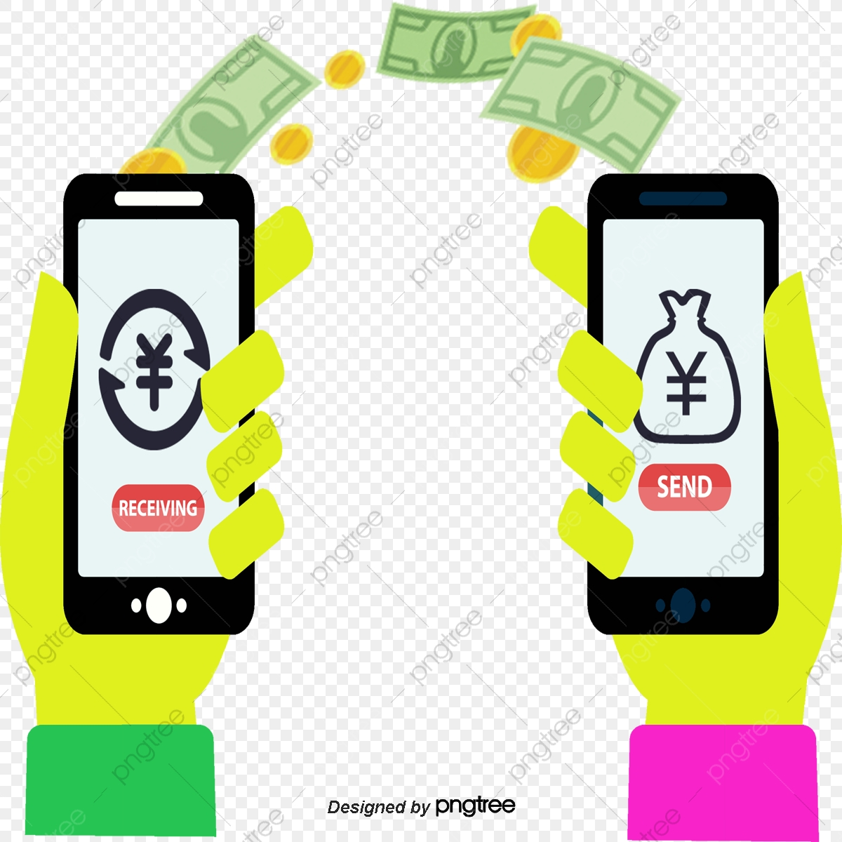 Mobile Account Transfer, Mobile Vector, Vector Material