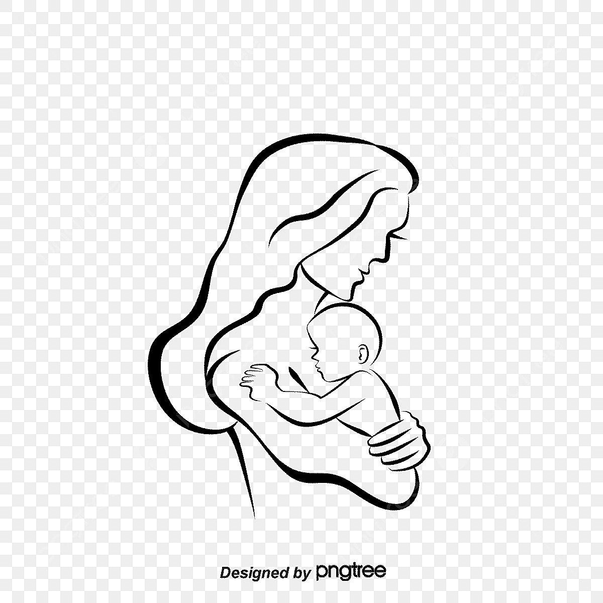 Gambar Ibu Berikan Yang Bayi Menyusu Vektor Bayi Menyusukan Anak Png Dan Psd Untuk Muat Turun Percuma