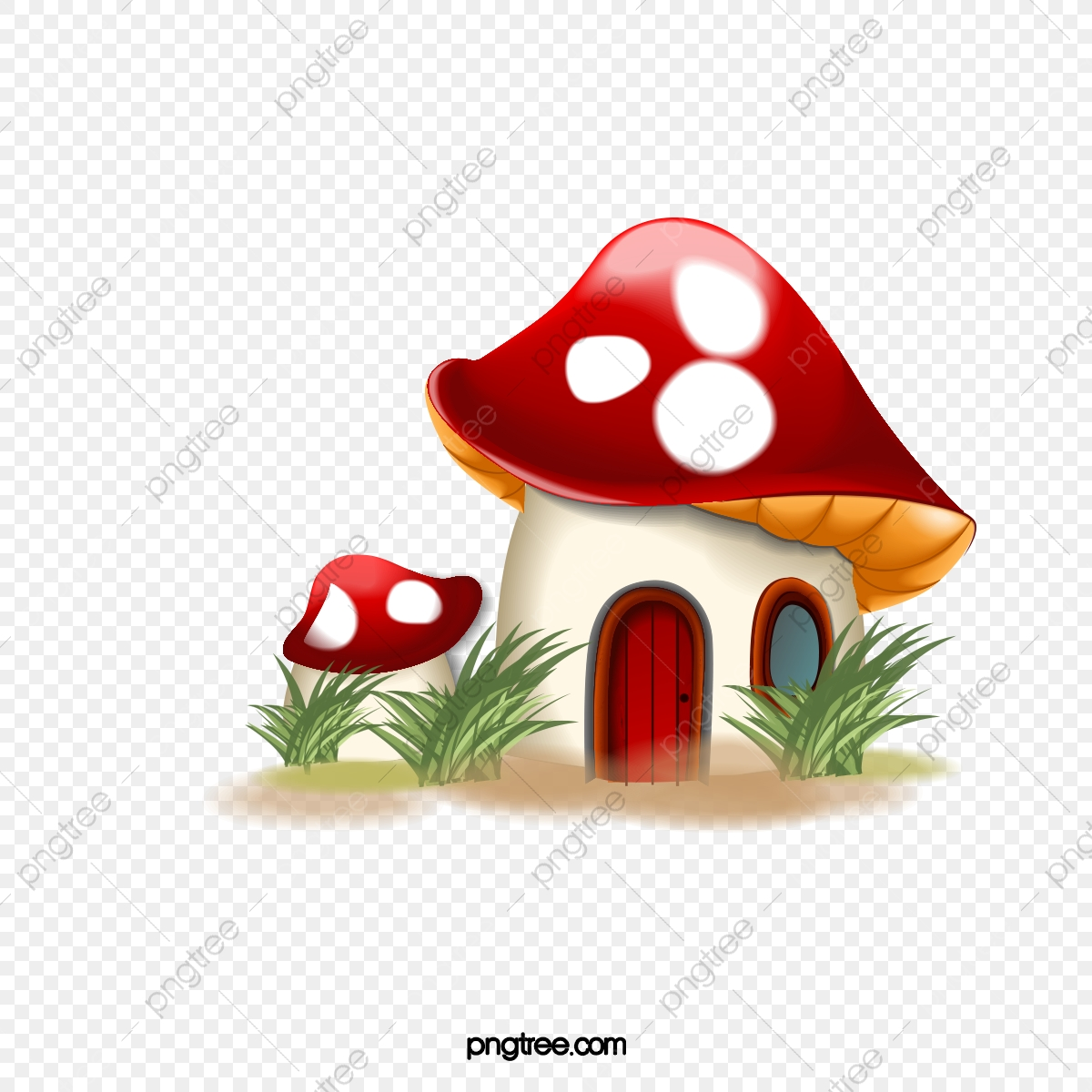 Mushroom Clipart – Watercolor mushrooms clipart painted by hand with watercolor.