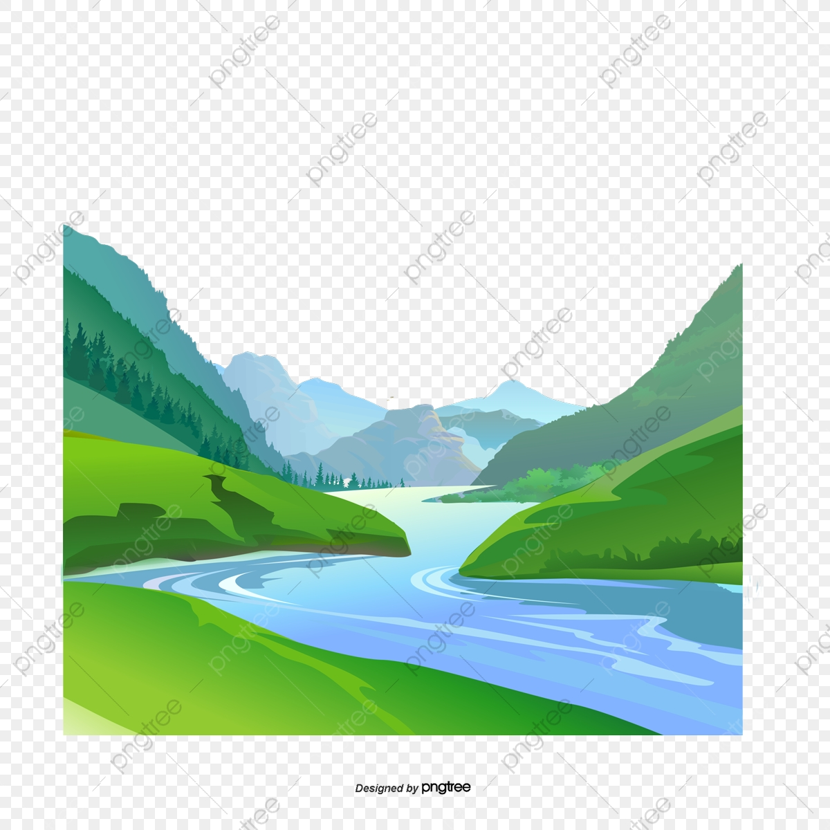 natural scenery small rivers and rivers vector illustration small river png transparent clipart image and psd file for free download https pngtree com freepng natural scenery small rivers and rivers 3239281 html