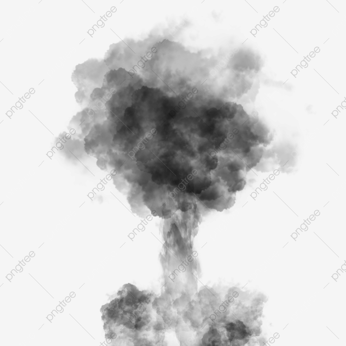 Smoke explosion. Nuclear photography