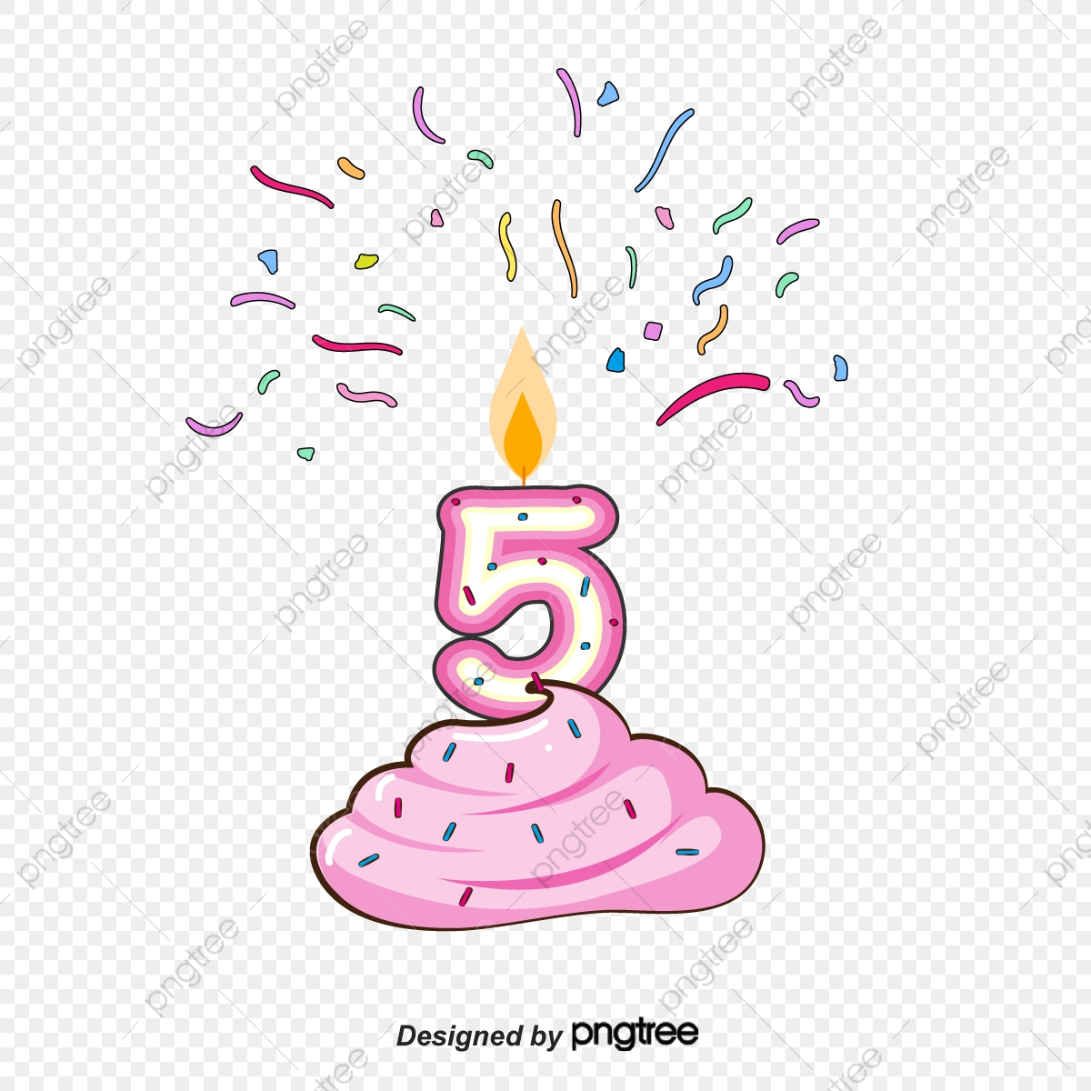 birthday number 5 png