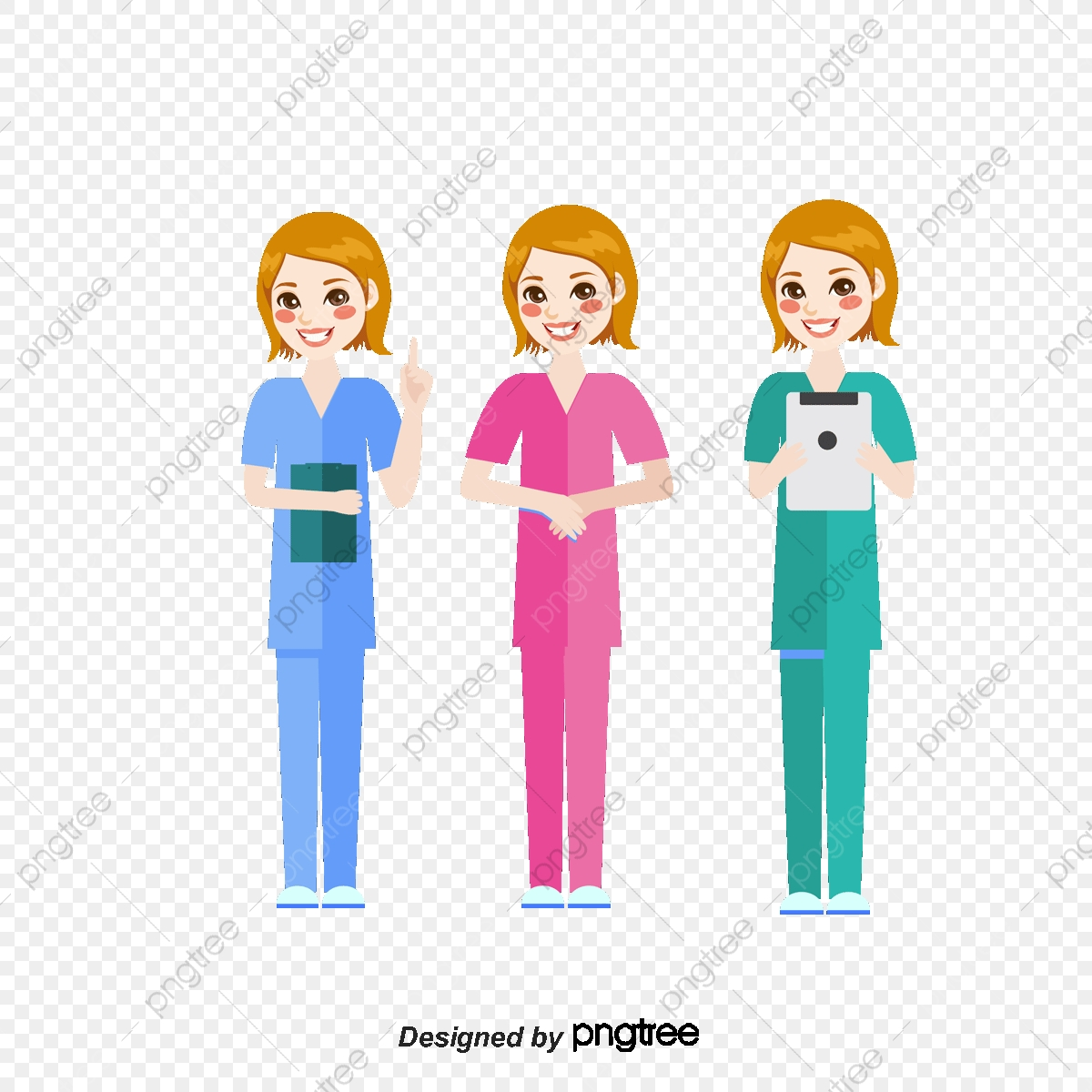 Nurse Sister Medical Staff Cartoon Hand Painted Medical Treatment Png Transparent Clipart Image And Psd File For Free Download