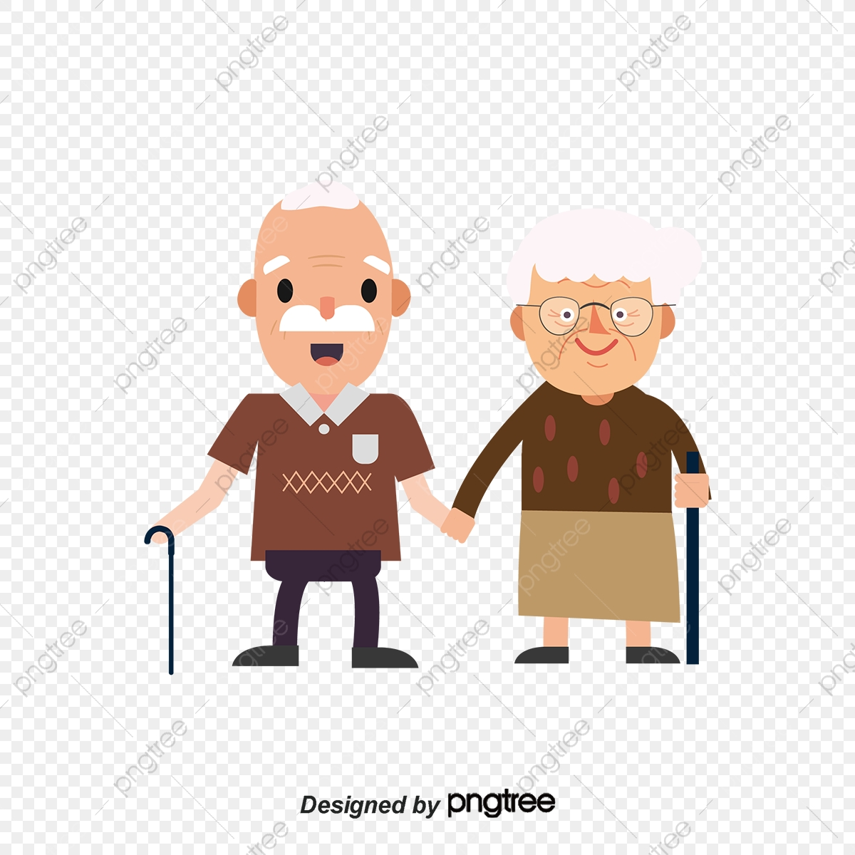 Old Couple Traveling Vector Couple Vector Elderly Couple Grandfather Png And Vector With Transparent Background For Free Download