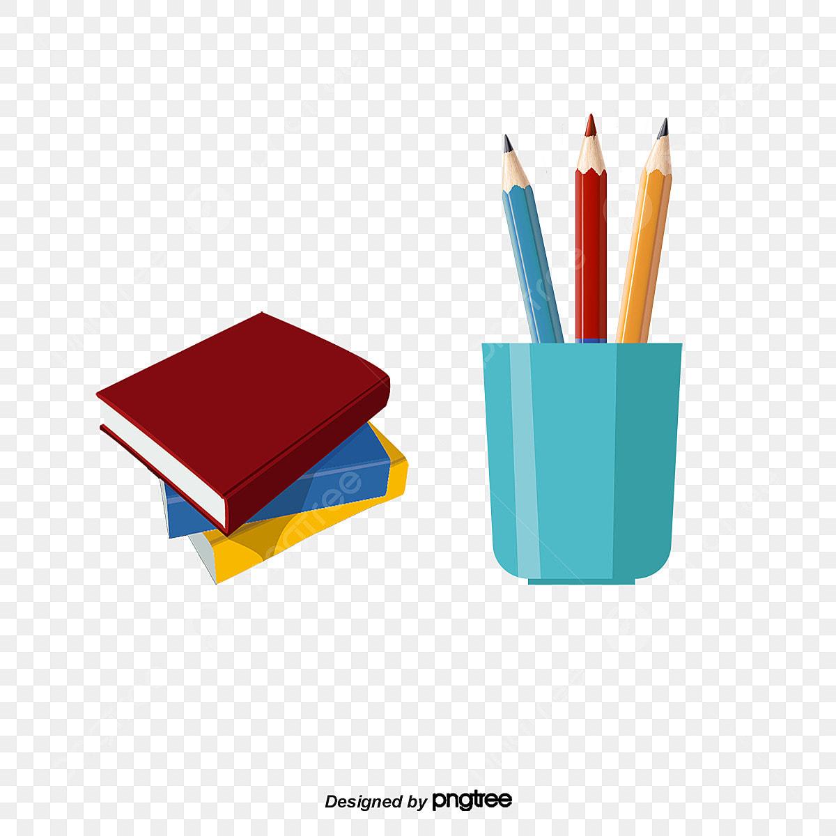 أقلام الرصاص و الكتب كتاب قلم كتب Png وملف Psd للتحميل مجانا