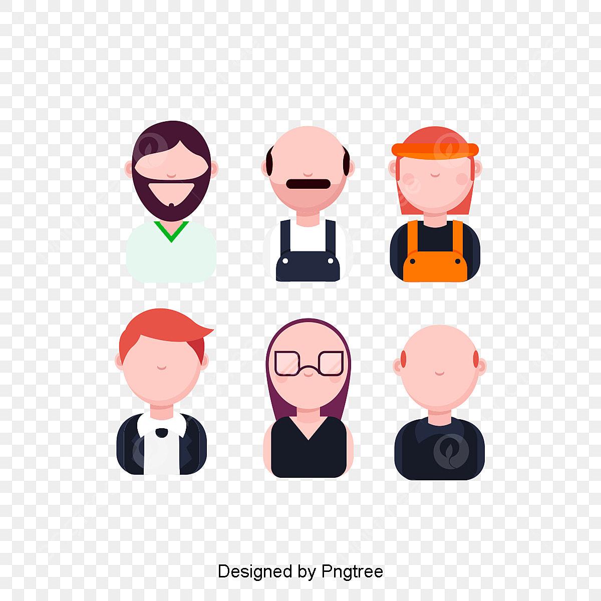 8d1d56d34 الناس ناقلات تصميم مسطح شخصيات مجهولة شخصيات كرتونية من مهن مختلفة ...