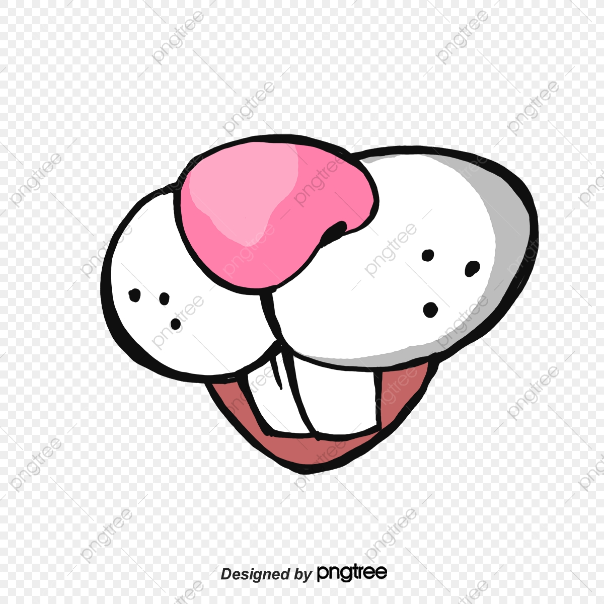 Pink Nose And White Big Rabbit Rabbit Teeth Nose Rabbit White Png Transparent Clipart Image And Psd File For Free Download