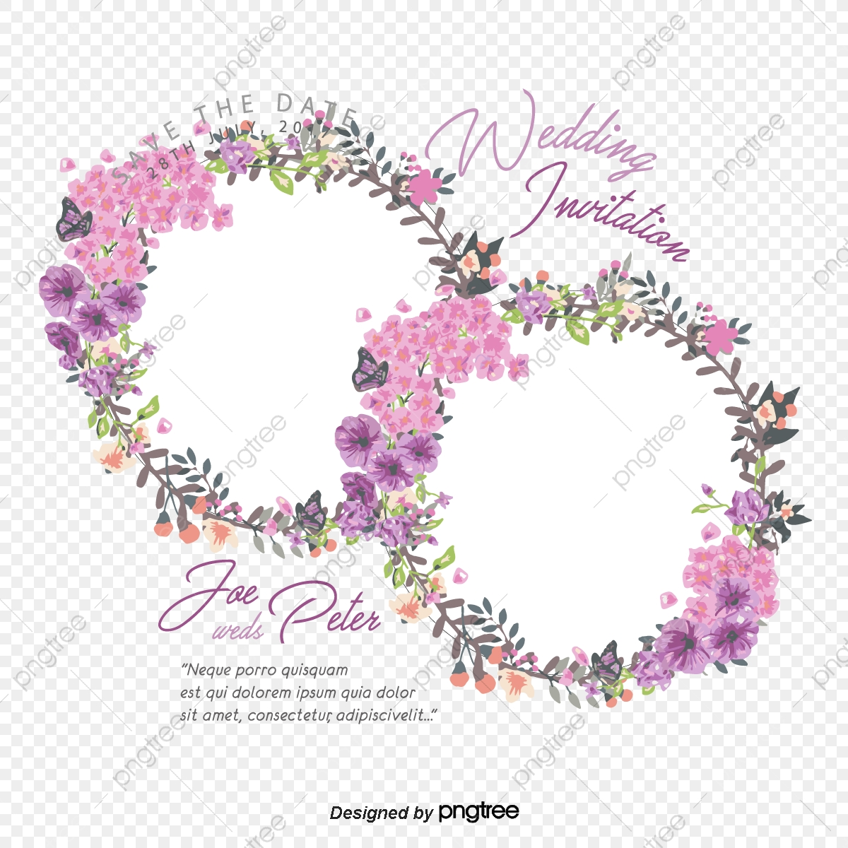 Wedding pink sticker png and vector copyright complaint