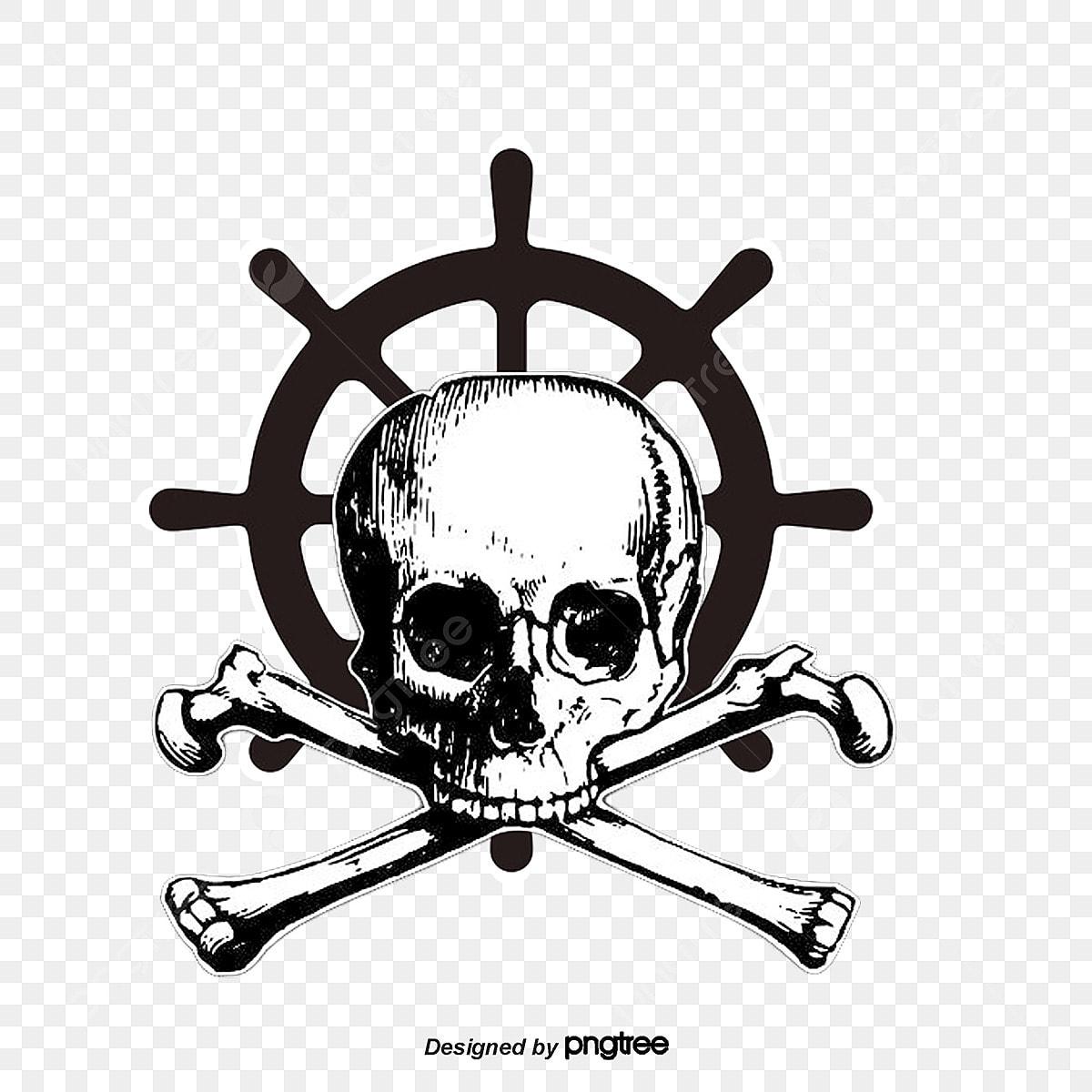 Pirate Tattoo Art Creative Figure, Pirate Vector, Tattoo