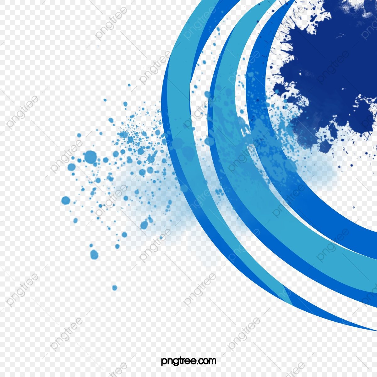 Ppt Background Blue And White Semicircular, Ppt, Background