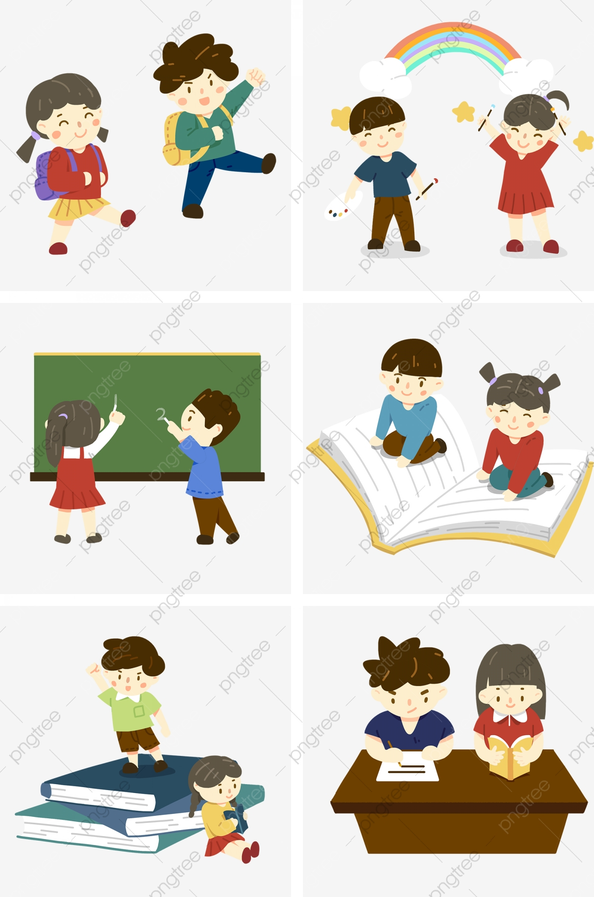 Pupils In Promoting Knowledge, School, Learn, School Bag ...