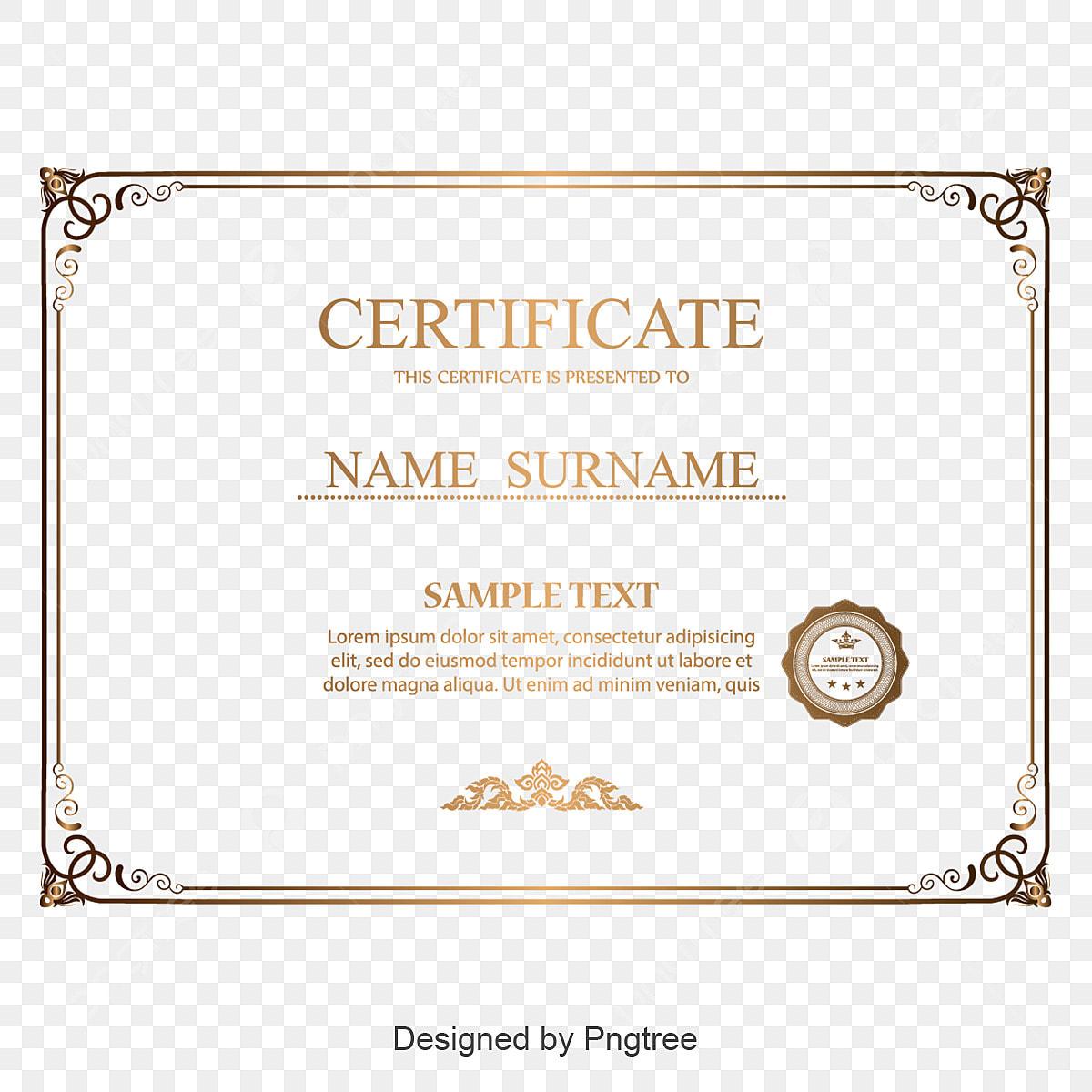certificat de texture de bordure rouge des certificats