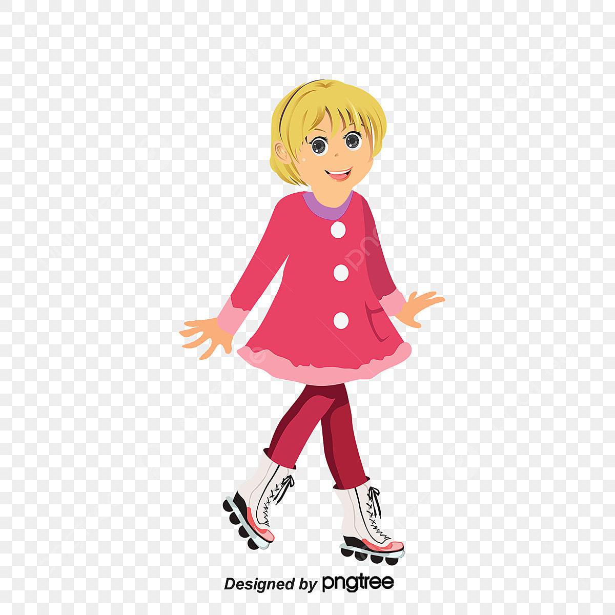 roller girl patin  u00e0 roulettes fille dessin png et vecteur