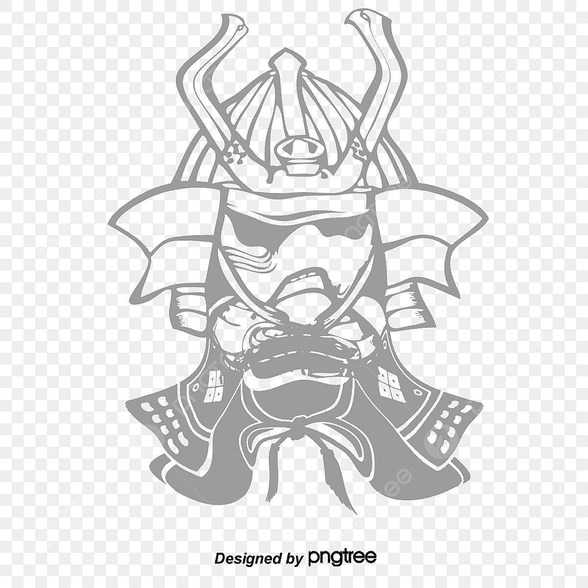 Samurai percuma png dan vektor
