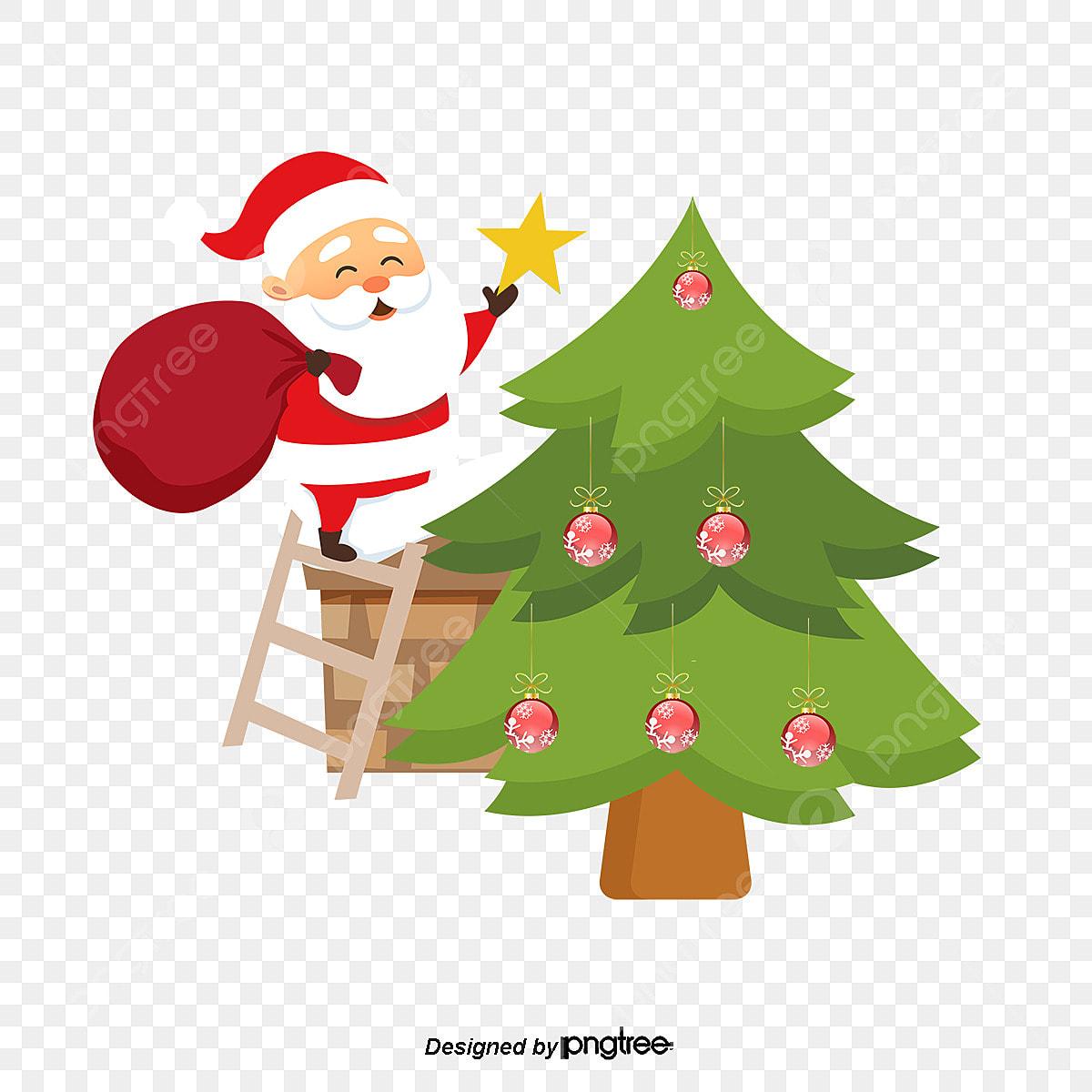 Decorar Un árbol De Navidad De Santa Claus Santa Claus