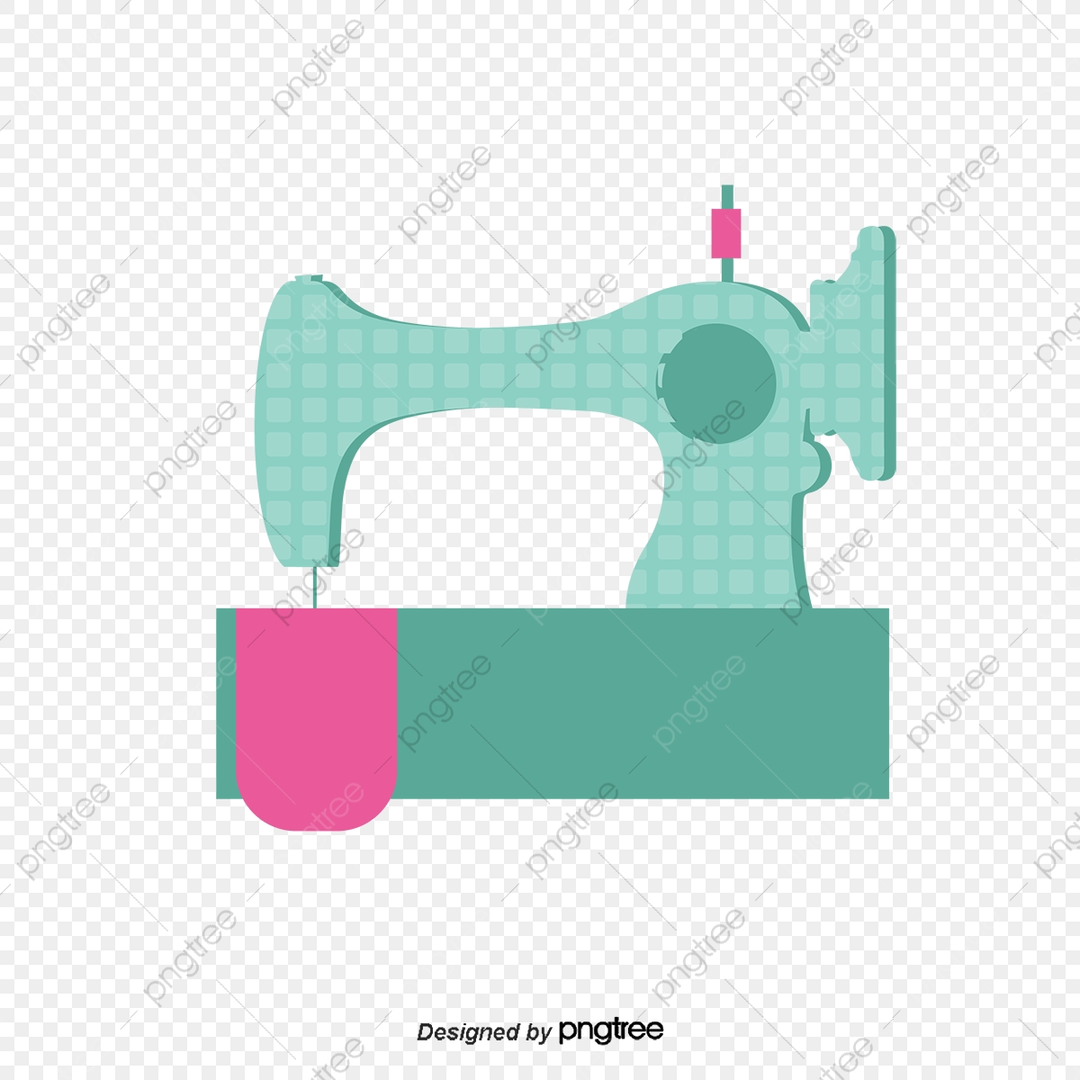 Sewing Machine Elements Vector Sewing Machine Clothing Png And