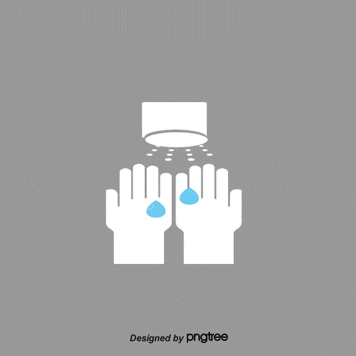 Six Steps Cartoon Hand Wash Simple Hand Wash Hand Wash Vector