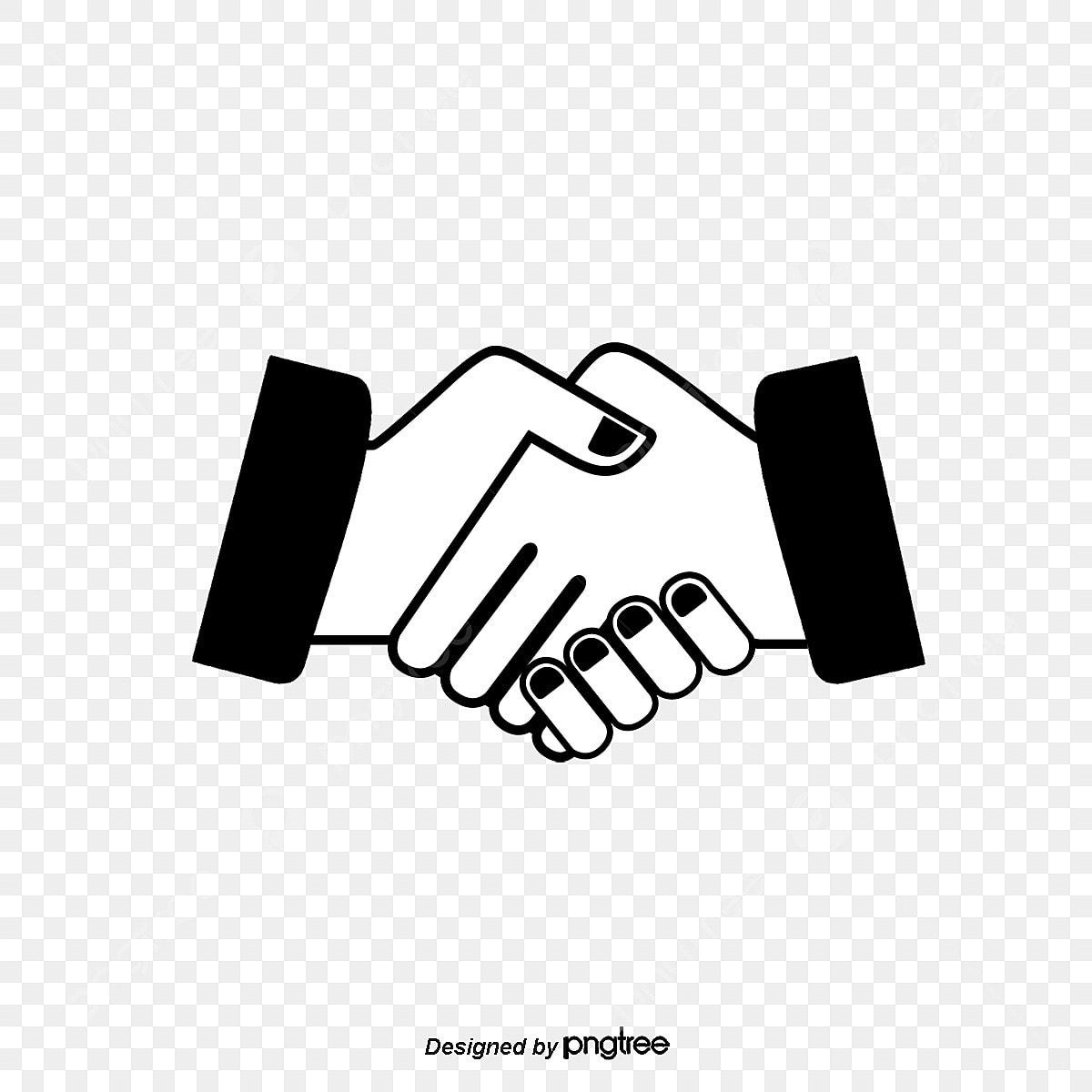 Lakaran Berjabat Tangan Kerjasama Perniagaan Kerjasama