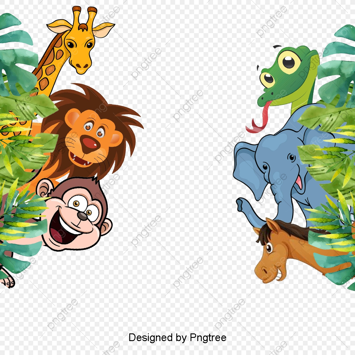 Jungle Animals Clipart Png Images Vector And Psd Files Free Download On Pngtree