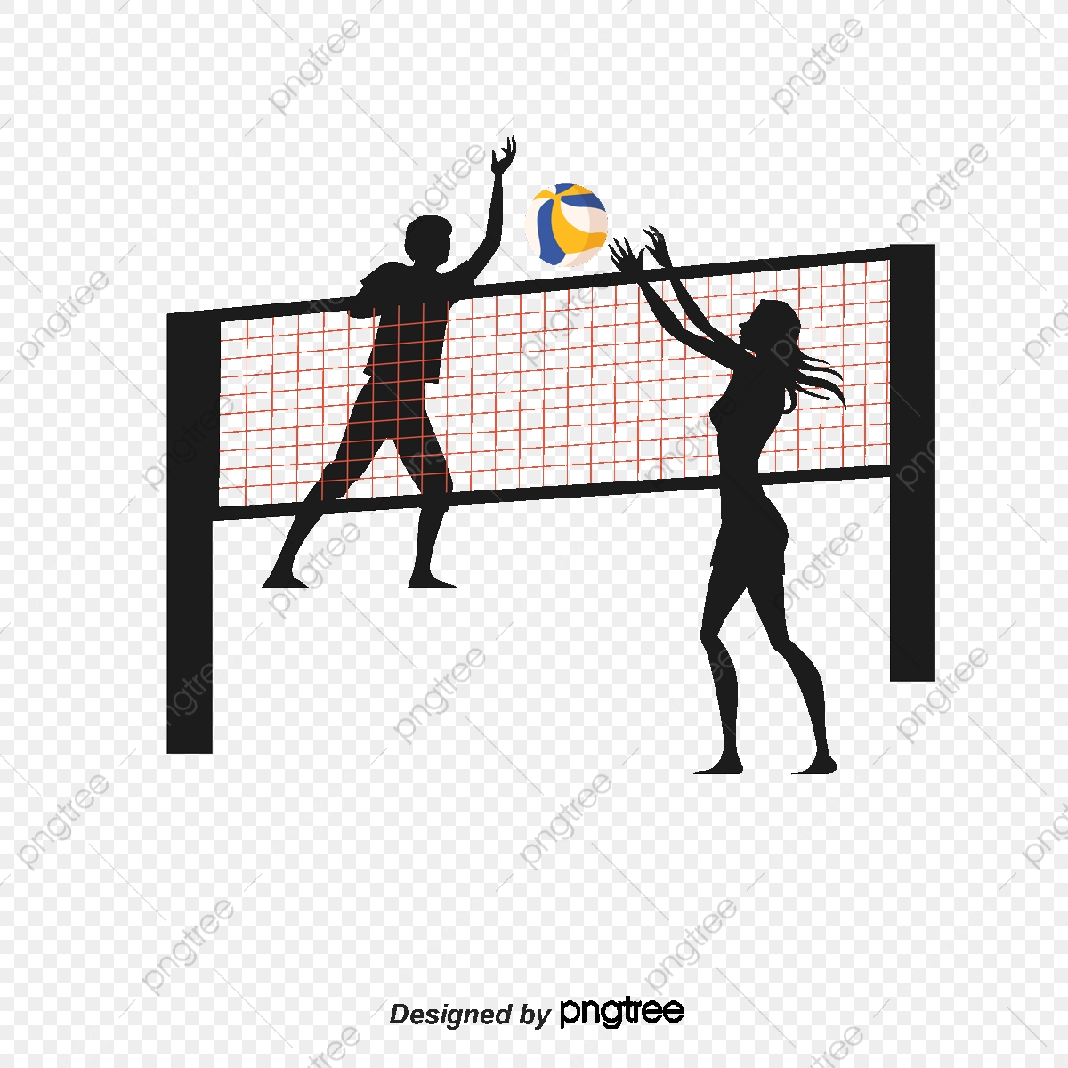 Smash And Block The Volleyball Player Clipart Beach Net Png Transparent Clipart Image And Psd File For Free Download