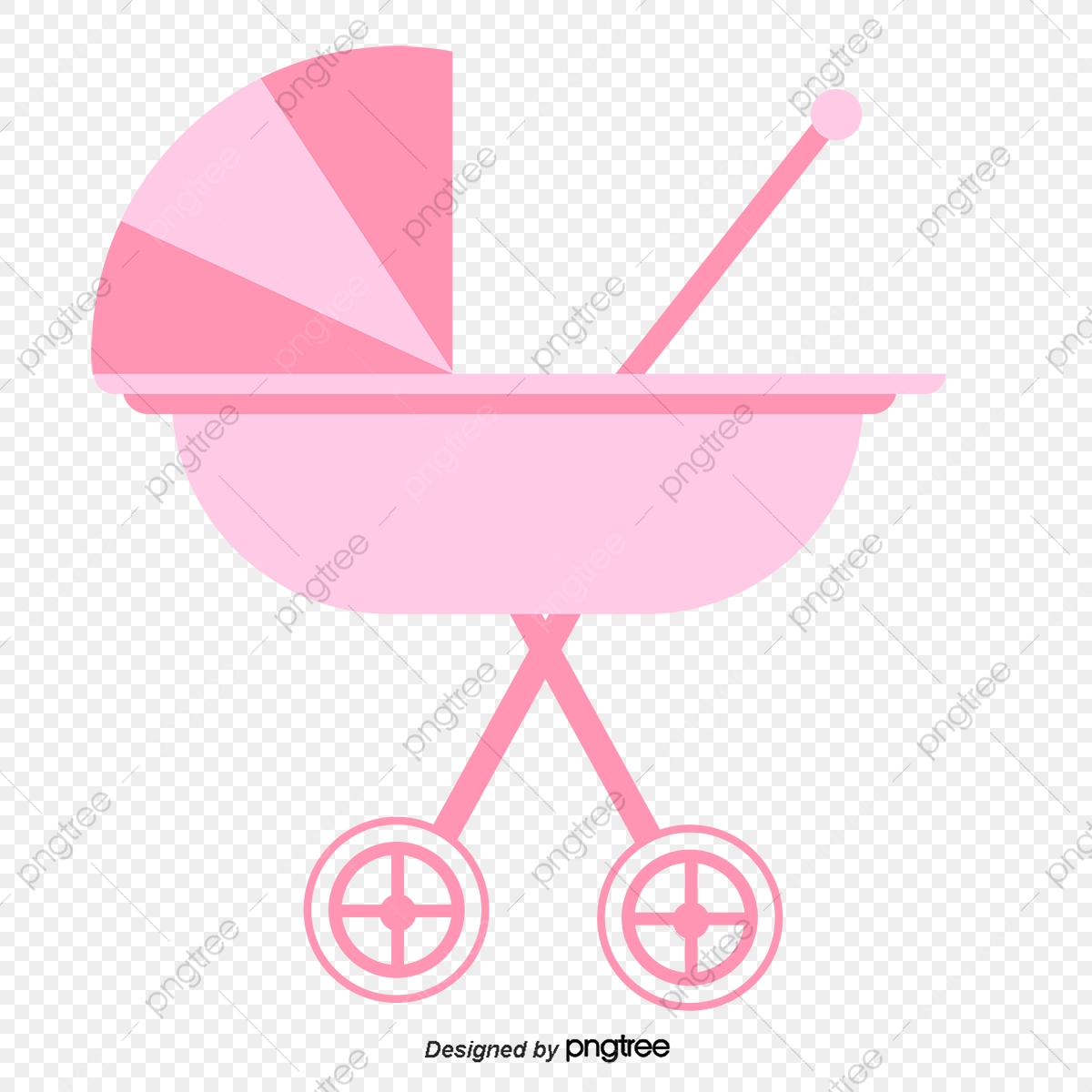 Baby Sitting In The Stroller Vector, Baby, Cartoon Baby, Character PNG  Transparent Clipart Image and PSD File for Free Download