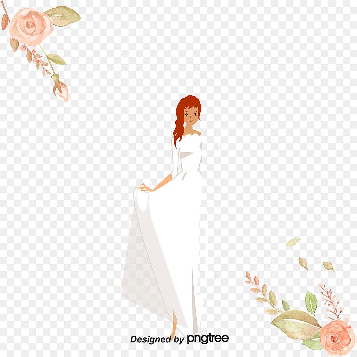 ウエディングドレスの花嫁を着る ウエディングドレス 花嫁 婚礼の