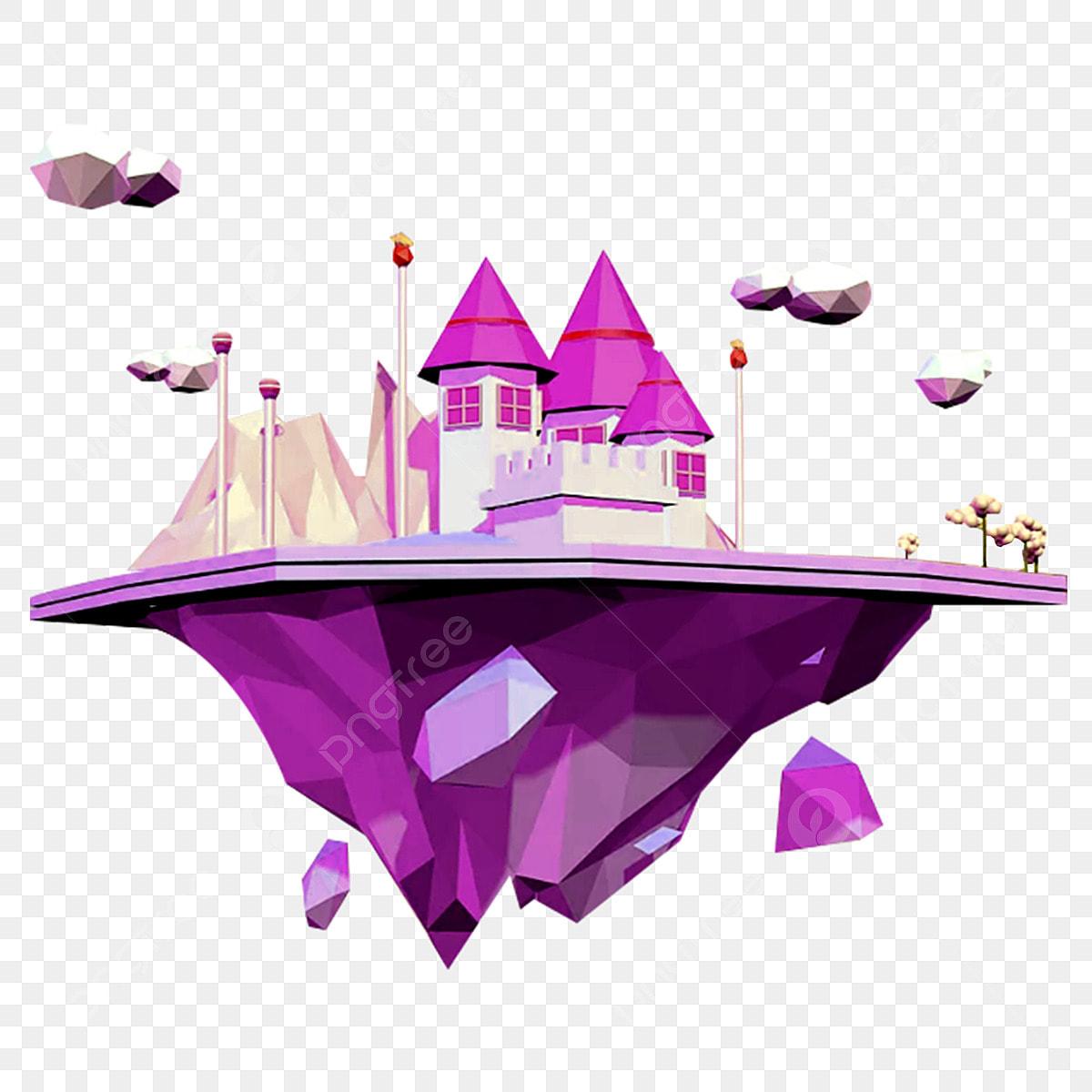 Un Chateau Dans Les Nuages château dans les nuages , rose, tour, princesse fichier png
