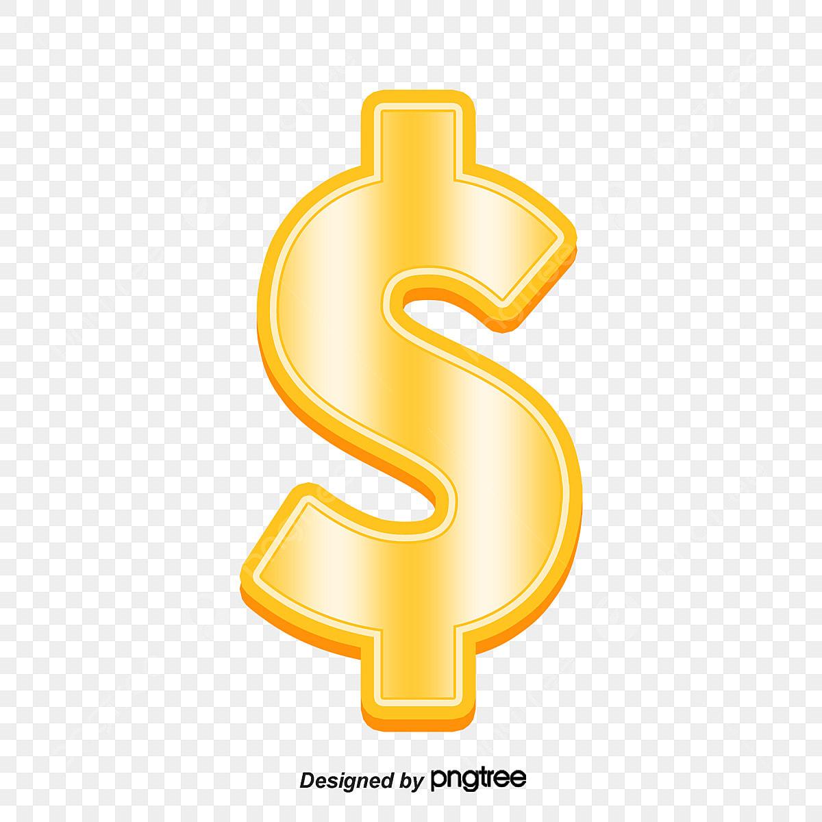 Three Dimensional Dollar Sign, Dollar Vector, Sign Vector