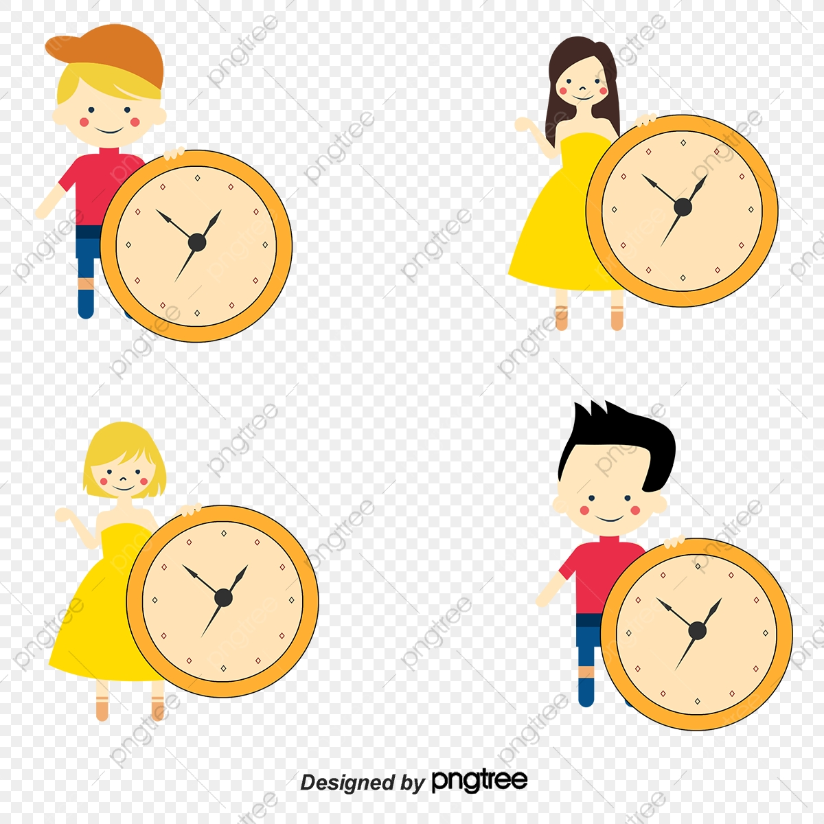 Time Clocks And Children Comics, Time, Watch, Child PNG and Vector