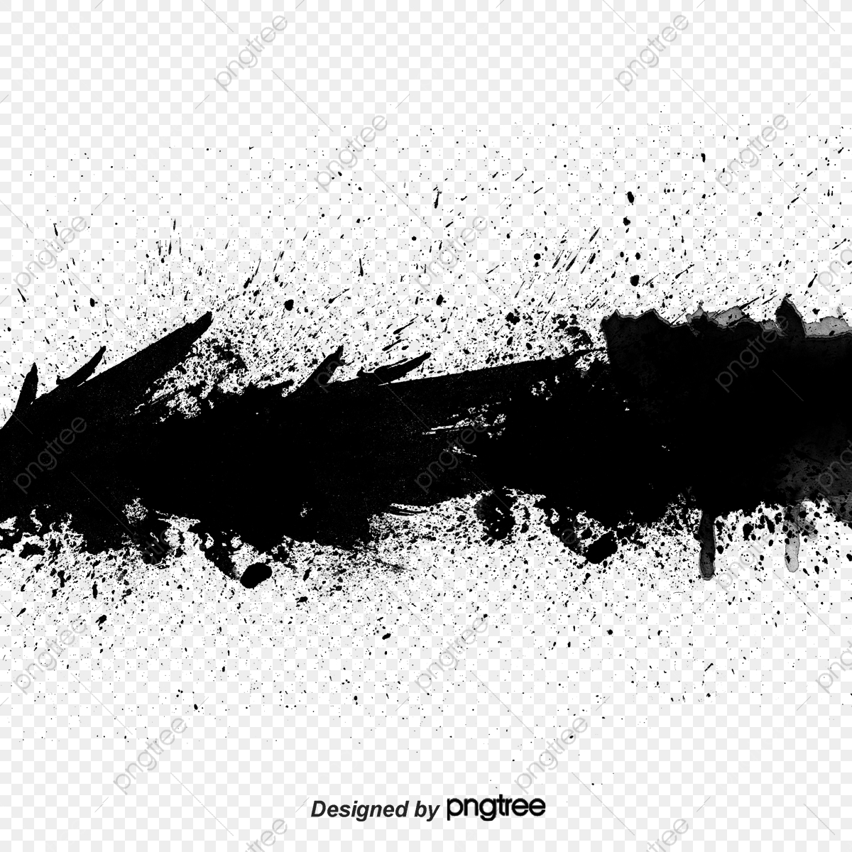 Transverse Black Ink Splash Effect Splash Clipart Black Ink Png Transparent Clipart Image And Psd File For Free Download