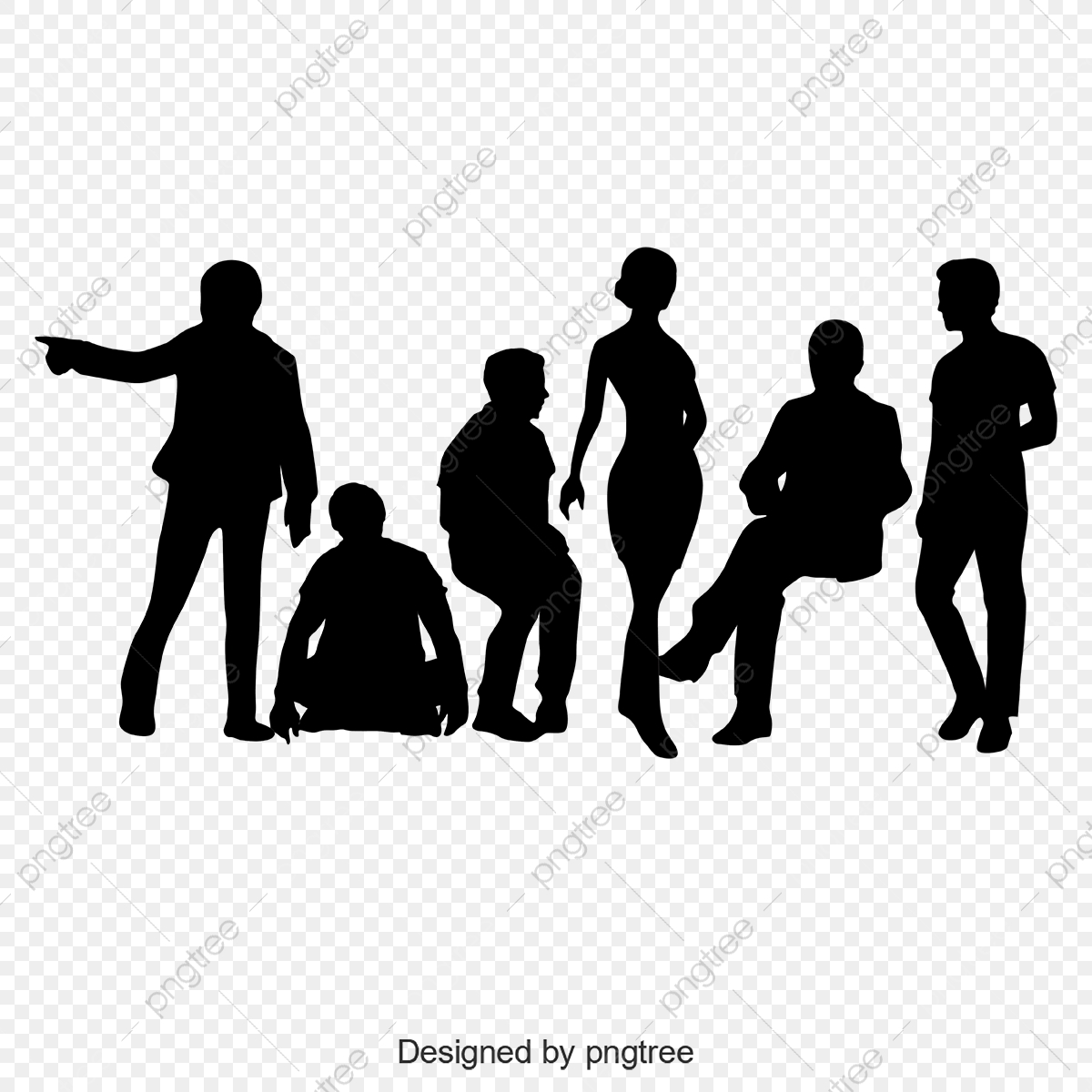Vector Black Sports People Silhouette Sports Clipart People Clipart Black Sports People Png And Vector With Transparent Background For Free Download