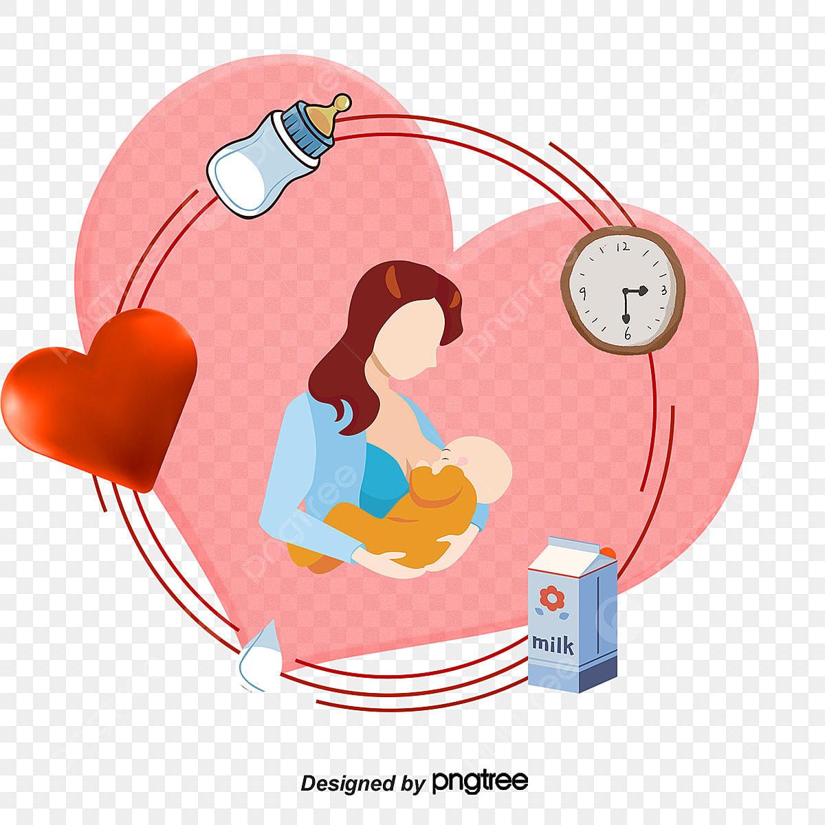 7bb6cc9734f3 Vector De Las Madres En Período De Lactancia Botella Pequeña Las ...