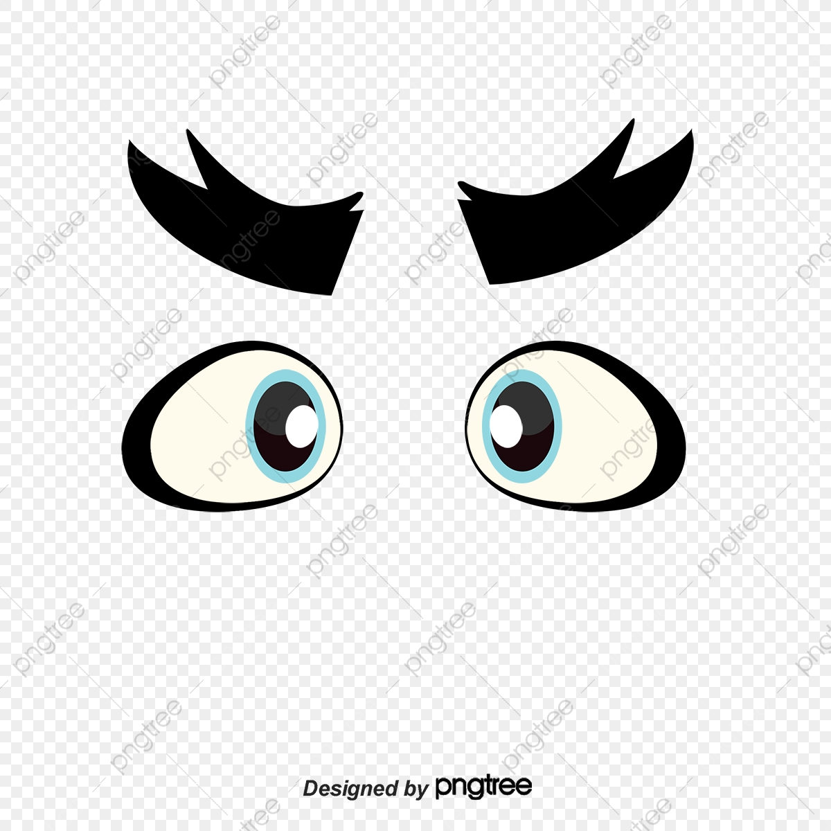 Vector Cartoon Eyes Big Eyes Look Cartoon Vector Vector Cartoon Png Transparent Clipart Image And Psd File For Free Download