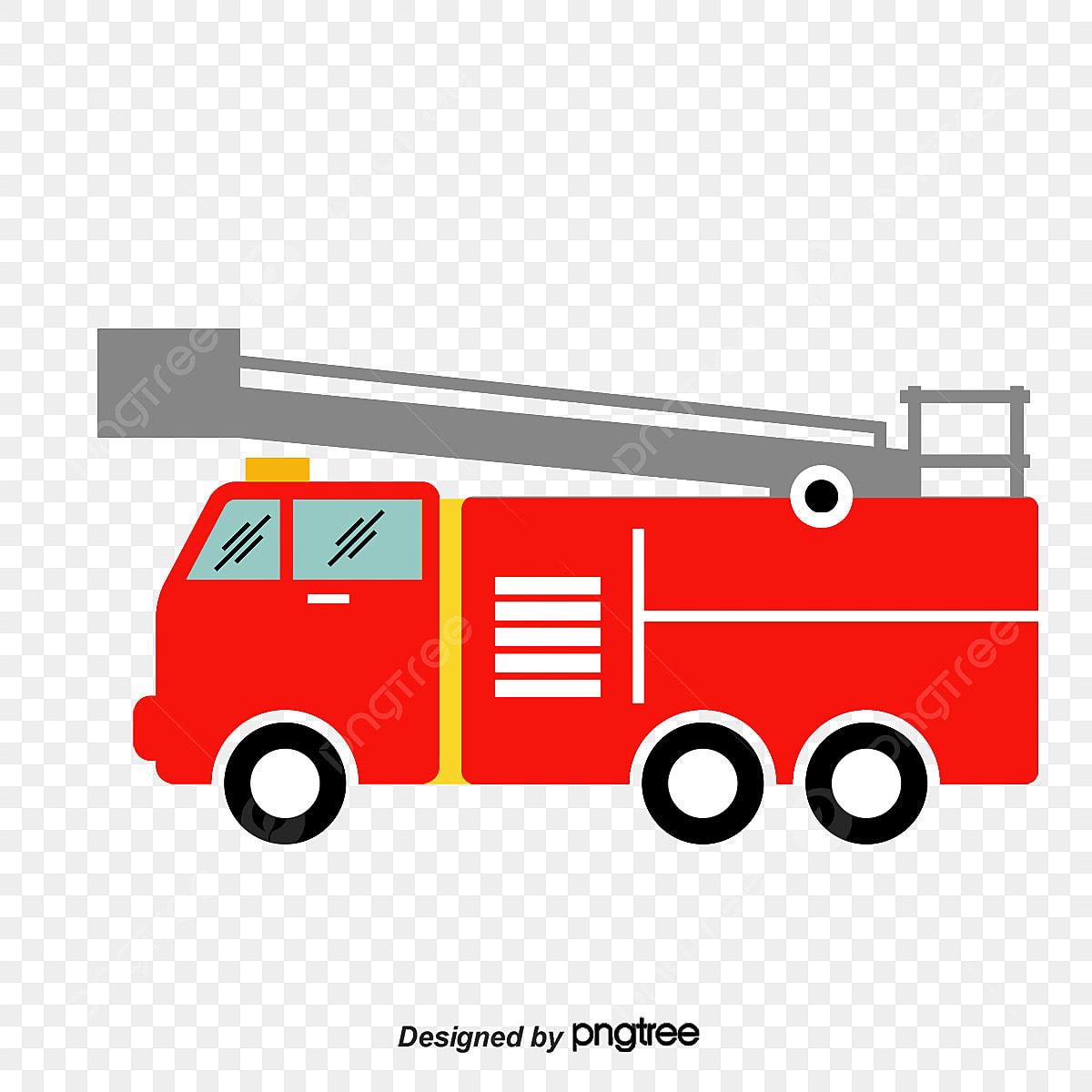 Vector Cartoon Fire Truck, Cartoon Clipart, Truck Clipart, 119 PNG