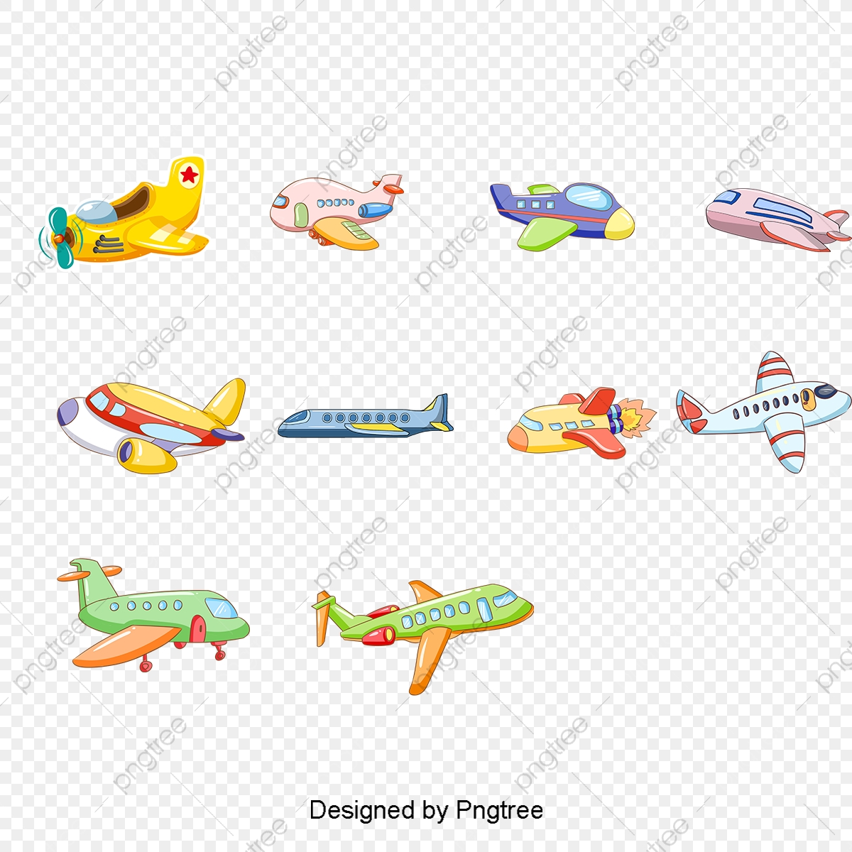 Vector Cartoon Toy Airplane Cartoon Airplane Aircraft Toys