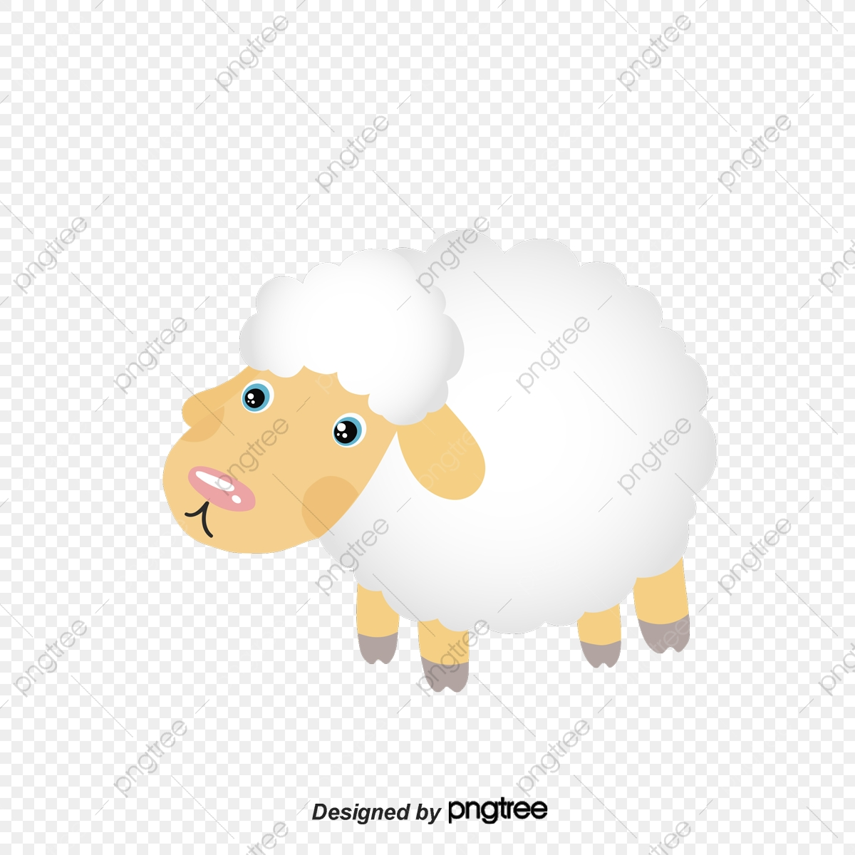 le vecteur de pince de mouton maternelle d u00e9coration animal