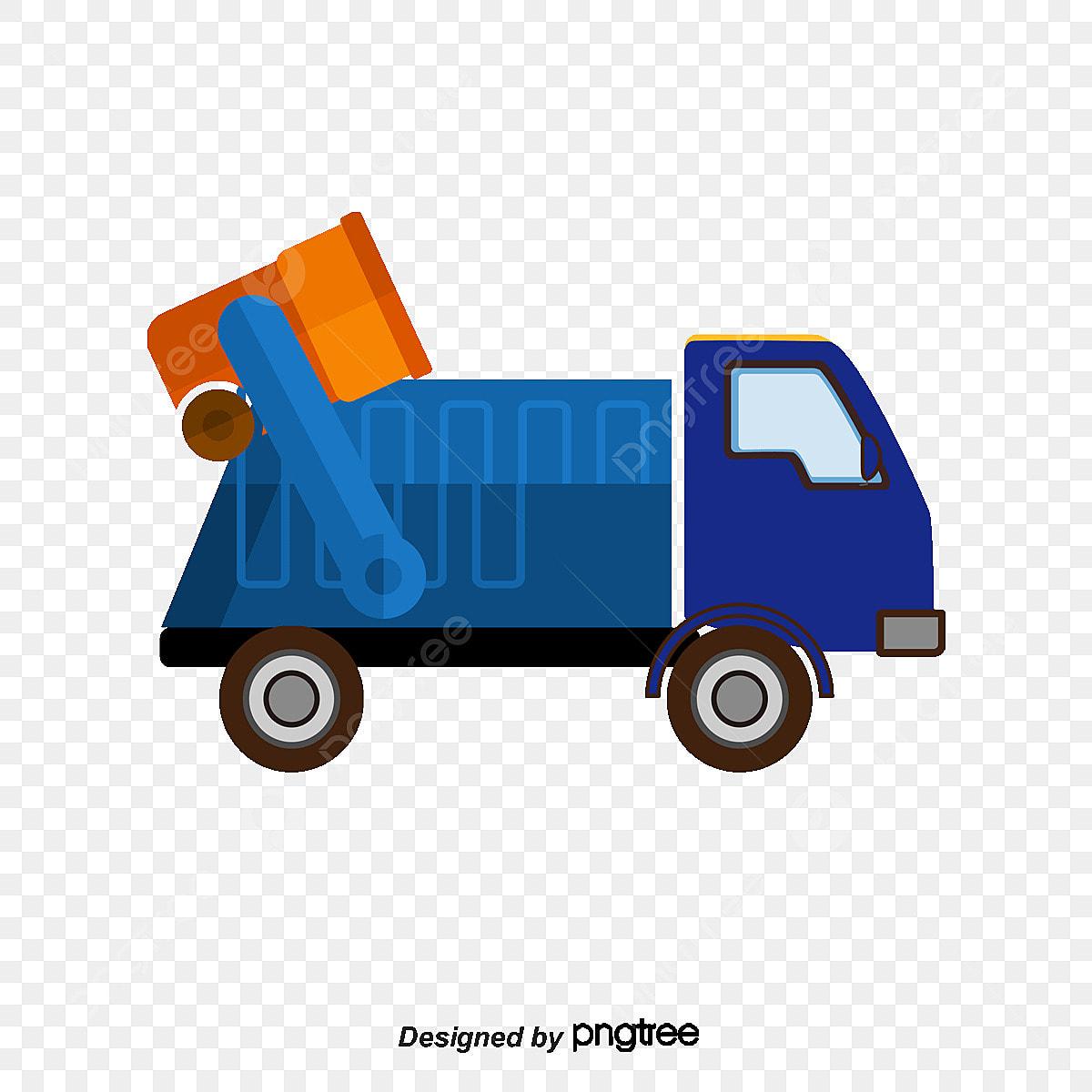 un camion  u00e0 ordures de vecteur transport vert d u00e9coration