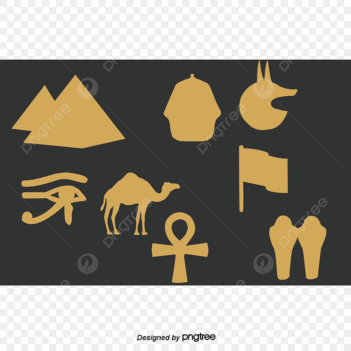 Vector Graphic Egyptian Hieroglyphs, Vector, Pharaoh