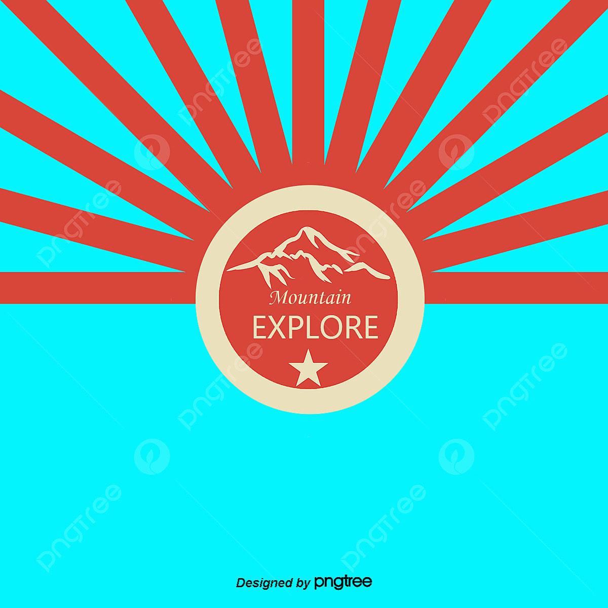 ベクトル山地探検クラブイラスト 山地探検クラブイラスト 山地探検