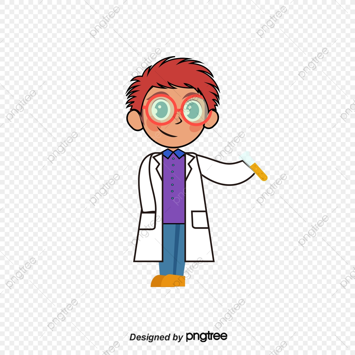 vector little scientist child hand painted science png transparent clipart image and psd file for free download https pngtree com freepng vector little scientist 1968233 html