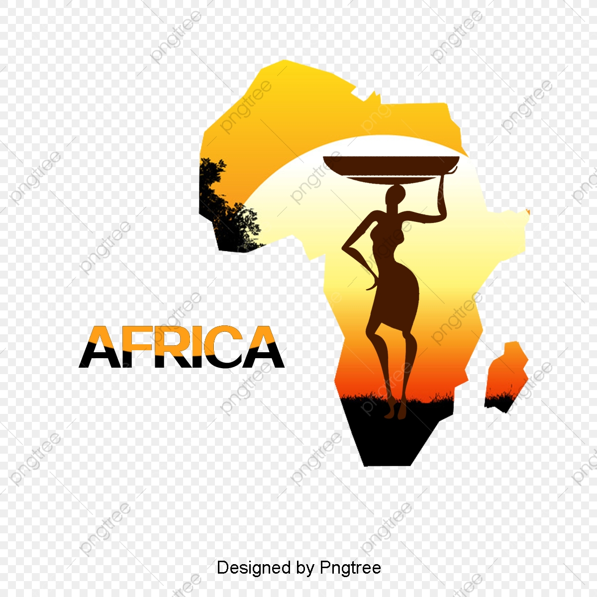 Vector Map Of Africa, Creative, Africa, Map PNG Transparent