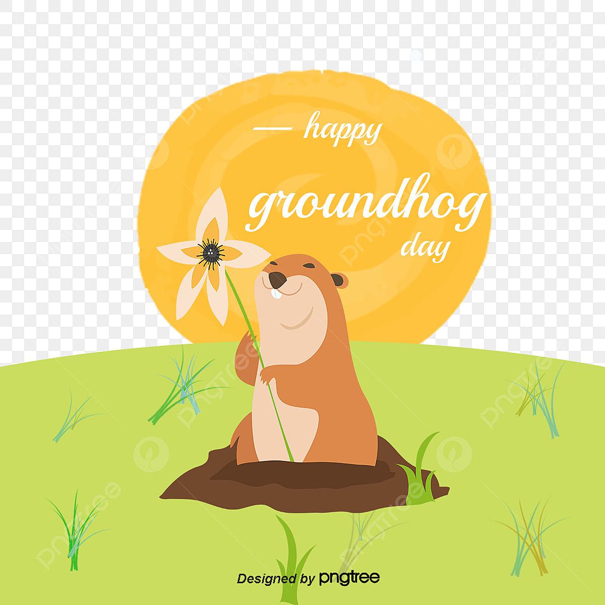 le vecteur de la marmotte dessin heureux animal png et